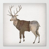 stag Canvas Prints featuring Stag by David Fleck