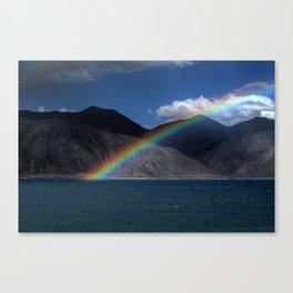 The Rainbow at Pangong! Canvas Print