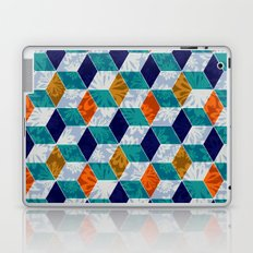 Cube Floral Laptop & iPad Skin