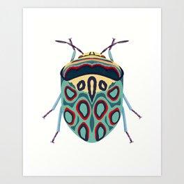 Blue Beetle Art Print