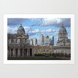 Royal naval college greenwich Art Print