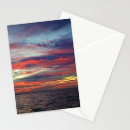 Fall sunset above Lake St. Clair, Canada Stationery Cards