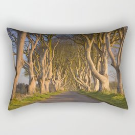 Old trees at the Dark Hedges in Northern Ireland Rectangular Pillow