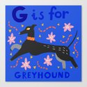 G is for greyhound by thelachrymalcat