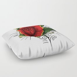 beautiful pizza Floor Pillow