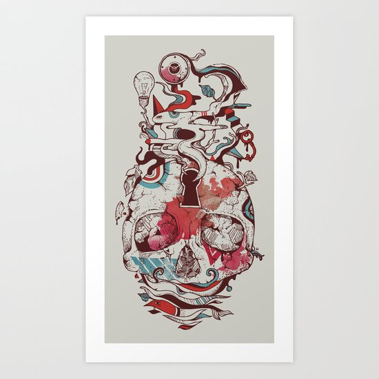 Landscape of an Open Mind Art Print