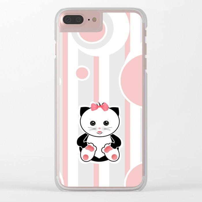 Little kittens. The pattern for children. Clear iPhone Case