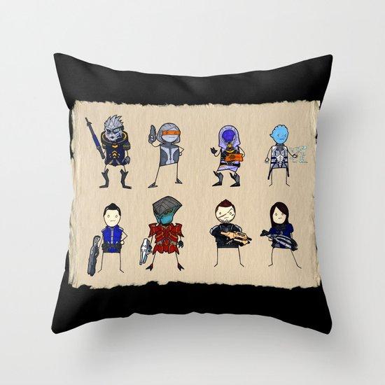 Mass Effect 3 Normandy Crew Throw Pillow
