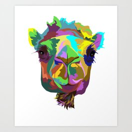 Camel Splash Art Print