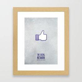 The Social Network - Minimal Framed Art Print