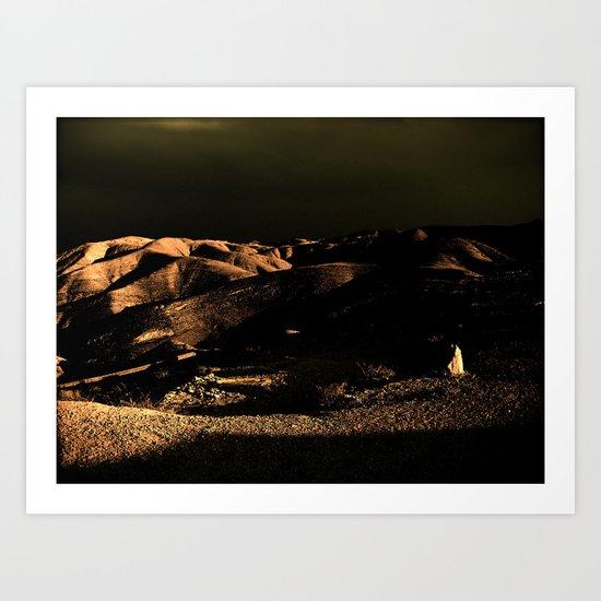 Dark Desert Art Print