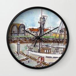The Harbour, Figueira Da Foz, Portugal Wall Clock