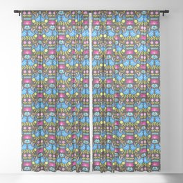 Folk Art Garden Sheer Curtain