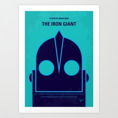 No406 My The Iron Giant minimal movie poster Art Print