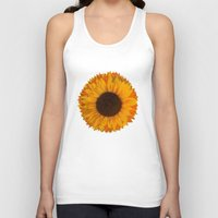 sunflower Tank Tops featuring Sunflower by Imagology