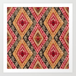 Sunset Kilim Art Print