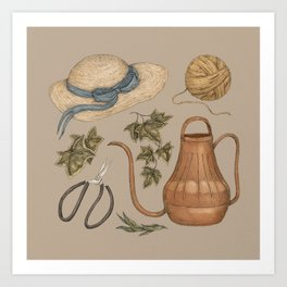 May Gardening Collection Art Print