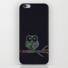 Owl on a branch iPhone & iPod Skin