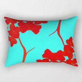 hydrangea shape Rectangular Pillow