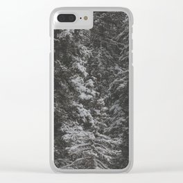 Snowy Forest Clear iPhone Case