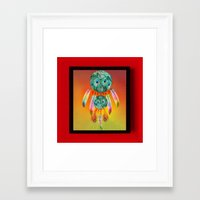 dreamcatcher Framed Art Prints featuring Dreamcatcher by Ganech joe