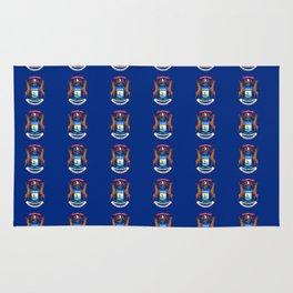 flag michigan 2,america,usa,great lakes,detroit, Michigander,yooper,Lansing,winter wonderland,Wolver Rug