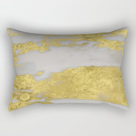 Agria gold marble Rectangular Pillow
