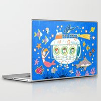 submarine Laptop & iPad Skins featuring Submarine by AW illustrations