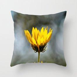 Alone Sunflower Throw Pillow