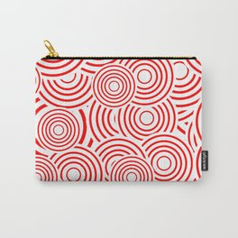 circles in red and white Carry-All Pouch
