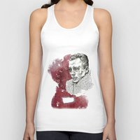 camus Tank Tops featuring Camus - The Stranger by Nina Palumbo Illustration