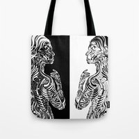 maori Tote Bags featuring Maori Sides by SarinneG