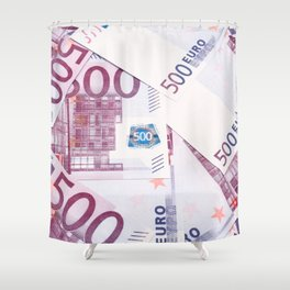 500 Euros bills Shower Curtain