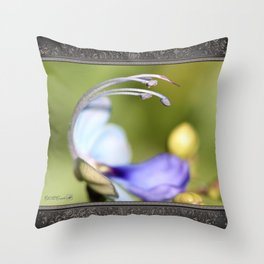 Clerodendrum Ugandense or Blue Butterfly Bush Throw Pillow