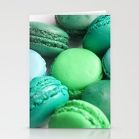 macaroons Stationery Cards featuring Macaroons by Sara Chergui