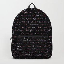 Fig Burst + Journal Writing Overlay Backpack