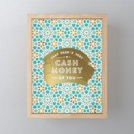 Cash Money – Mint & Gold Palette Framed Mini Art Print