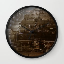 Vintage Railroad Locomotive Shop - 1942 Wall Clock
