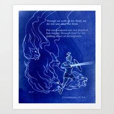Warrior 3 With Heavenly Host Art Print