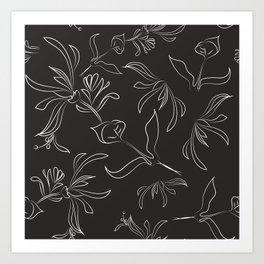 Hand Drawn Floral Art Print