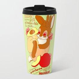 Jackalope and Peach Travel Mug
