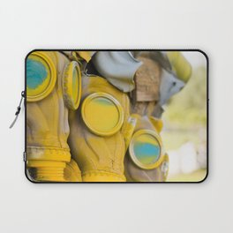 Yellow gas mask Laptop Sleeve