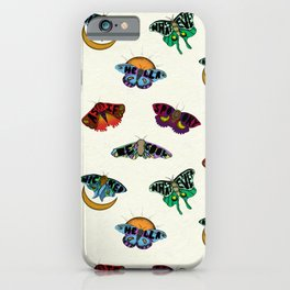 Word Moths iPhone Case