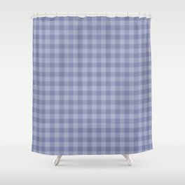Blue gray simple plaid patterns . Shower Curtain