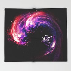 Space Surfing Throw Blanket