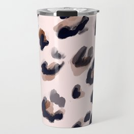 Blush and Leopard Print Travel Mug