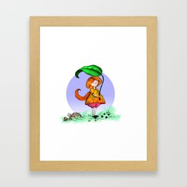 Leaf Umbrella Framed Art Print