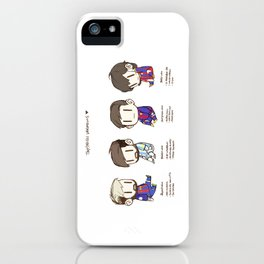 Tiny Messi, pack of 4 iPhone Case
