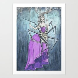 Spider Lady Art Print