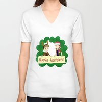 supernatural V-neck T-shirts featuring Supernatural by Brittany's Drawings and Doodles
